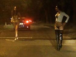 Nikki is a street whore. Excited Nicole Montero teasing guys on