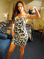 Nicole montero self shots. Tiny Nicole Montero posing in hot dresses